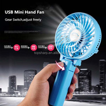 Easy-carry portable mini USB cable rechargeable camping fan for outdoor activities