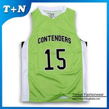 custom sublimated printing reversible basketball jerseys