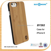 2015 New Factory Price 100% Genuine Natural Bamboo For Iphone 6s Case Ultra Slim Custom Wooden Cover
