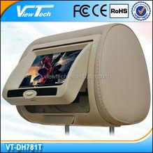 "Cheap price 7"" mini bus touch screen headrest dvd players"