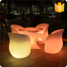 Color changing plastic glowing chair, light up chairs, led chair