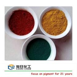 Hot sale purity 95% iron yellow black blue red oxide primer paint for asphalt cold mix/ rubber mould paver