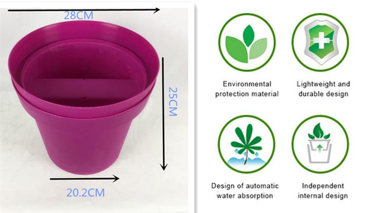 balcon planteur pots de fleurs en plastique gros, pas cher en