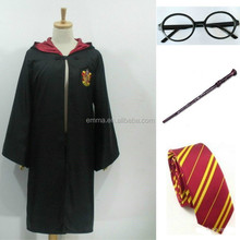 Adult & Children Harry Potter Hogwarts Tie Glasses Wand Cape Cloak Robe Costume BM563
