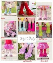 Pretty girls leg warmers baby lace leg warmer solid color lace leg warmers