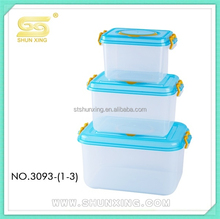 PP promotion plastic storage container /box set for gift