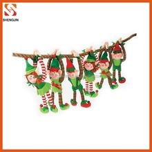 plush hanging elf toy / christmas elf toys tree decoration