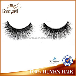 Fashion style Luxury 3D volume private label real human hair qingdao mink lashes