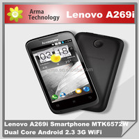 Wholesale 3.5 inch Original Lenovo A269I smartphone MTK6572 Android 2.3 with Daul two SIM card 3G WIFI