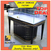 Jewelry store furniture metal jewelry display showcase with cabinet design
