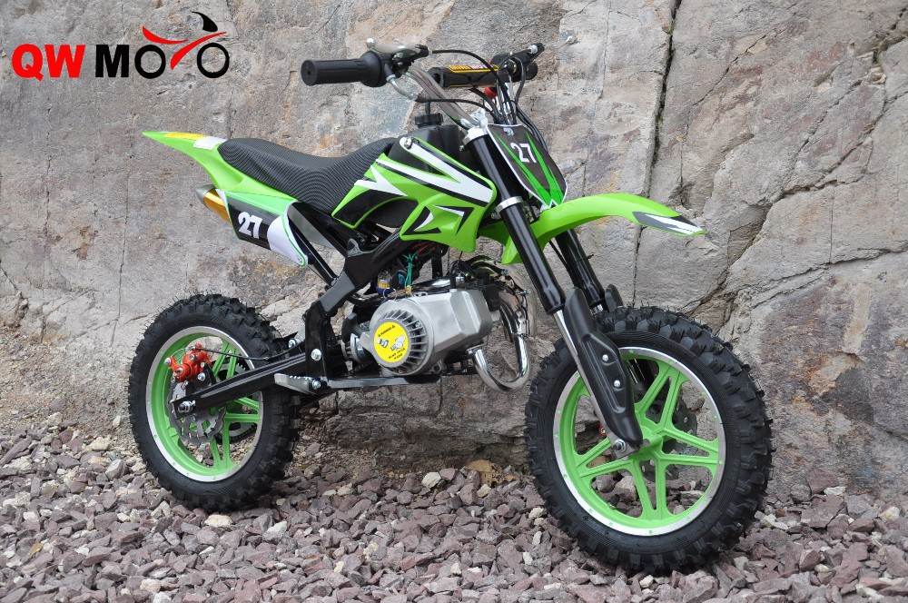QWMOTO 49cc 2 strokes Mini Moto Petrol Bikes Kids Mini Pit Bike 49cc mini dirt bike
