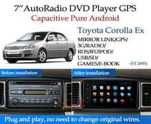 full touch screen pure android toyota corolla ex car radio gps with GPS 3G Wfii android! Good quality!