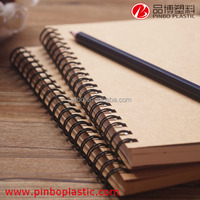 school notebook with spiral,Eco friendly brown paper notebook,Recycled Paper Spiral Notebook