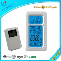 Sunny RF 433 MHZ Wireless Multifunction LCD Weather Station Clock With Thermometer