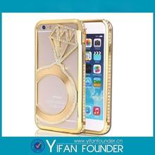 For Iphone 6 fashionable full crystal bling stone diamond case - Golden diamond Cover