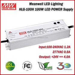 Meanwell LED Driver HLG-100H-24 Single Output 100W Constant Voltage Waterproof LED Power Supply 24V 4A