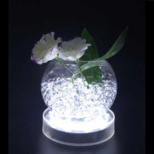 6 Inch Round shape White LED Undervase light for table centerpiece decoration