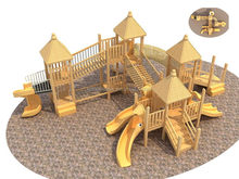 Low price/professional/castle with slide playground equipment