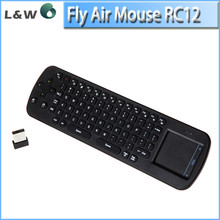 RC12 2.4GHz Wireless Keyboard Air Mouse Combo with Touchpad for Laptop Tablet Computer PC Smart TV