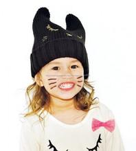 TF-04150808059 2015 quente vender crianças Debora gola alta cap não-criança boné gorro gato orelha cap