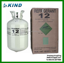industrial grade 13.6kg/30lbs disposable cylinder packing Refrigerant gas r12 for air condition