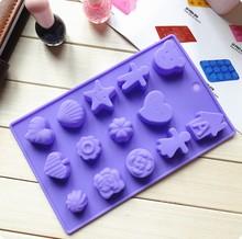 2014 new 15-hole variety shape silicone cake mould bakeware tools silicone chocolate mould cake tools