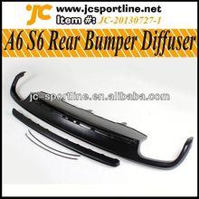 difusor trasero para el audi a6 a cambio S6 labio difusor trasero parachoques trasero para audi 2013 a6 estándar de parachoques