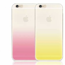 Gradual change color cell phone case/ soft tpu material case for iphone6& 6plus