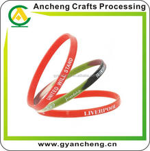 fashional china corporate gift glow silicone bracelet for fashion accessory
