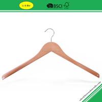 LM9707 Beech Wood Natural Color Hanger with Shoulder