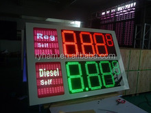 led price sign petrol gas station screen xxx vxxx red green amber double side