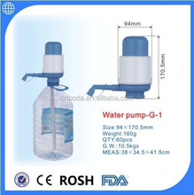 manual irrigation pump for drinking bottled water