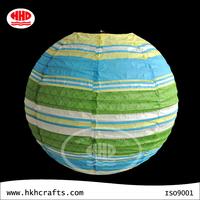 Sphere chinese stripe handmade paper lampion