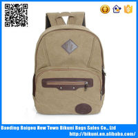 Best selling Korea fashion big size unisex back pack bags vintage durable canvas high quality backpack for college student