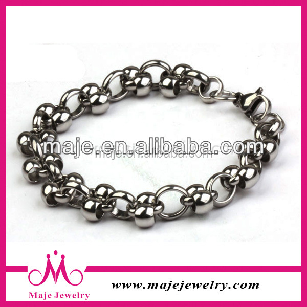 wholesale price stainless steel bead bracelets bangle