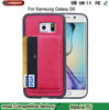 wallet leather case for samsung galaxy s6 card stand leather case cover for samsung galaxy s6 edge