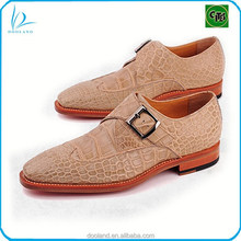 Exotic real crocodile leather men shoes monk shoes