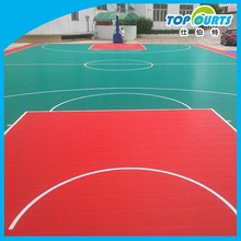 SGS certificated colorful plastic outdoor basketball court floor
