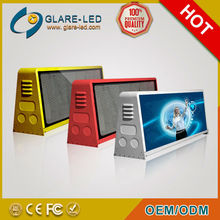 Waterproof level: IP65.!!!!!!!! 3G P5 video taxi roof top signs leds display