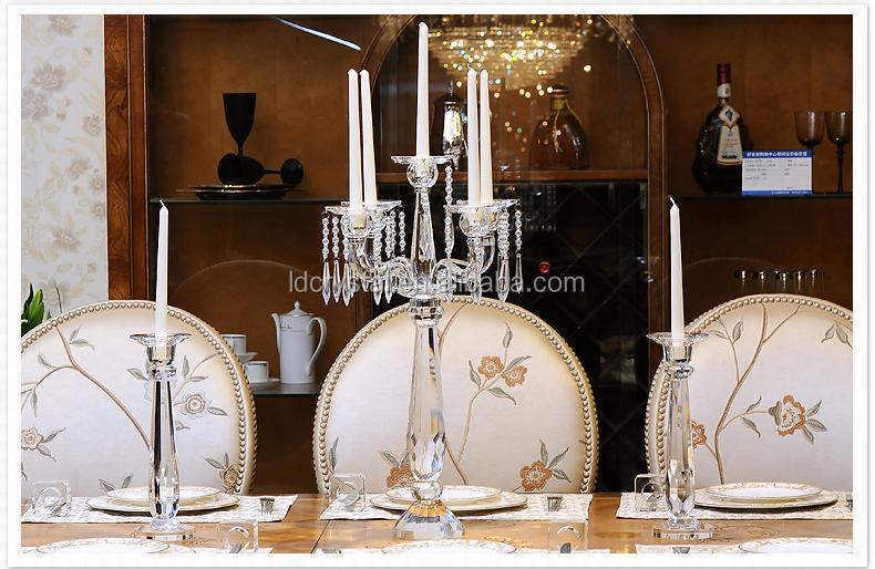 Tall candelabros de cristal/crystal glass candelero candelabros ...