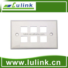 6 Port Faceplate/ Wall Plate/RJ45 Wall Outlet, 120 Type