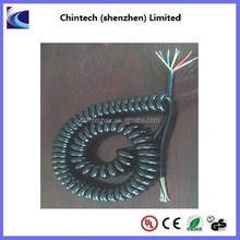 Flexible multi cores PU spiral spring cable