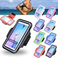 Mobile Phone Bags Running Sport Jogging Armband Case Arm band Cover For Samsung Galaxy S6/ S6 Edge