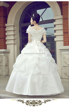 2015 hot sale fashion wedding dress material 2080 organza