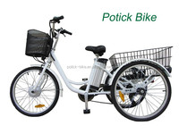 250W cheap adults electric tricycle with EN15194 / 24' lithium Three wheels Electric bike / cargo e bike