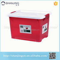 Factory Direct small cute Red Plastic Storage Box PP plastic container small container