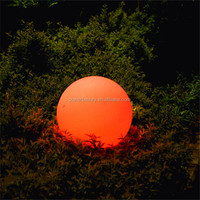 Rechargeable outdoor color changing glowing LED lighting up ball led waterproof sphere