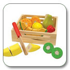 2015 wood fruit box cutting toy for kids