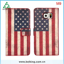 Mobile phone American Flag Wallet Leather case for HTC one M9