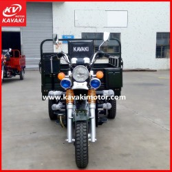 2015 200cc Chinese Hot Selling Three Wheel Motorcycle Black Cool Electric Motorized Tricycle